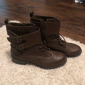 Brown midi boots